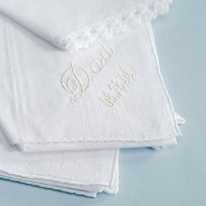Embroidered Gentleman's Handkerchief image