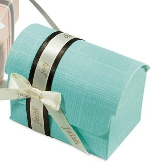 Aqua Blue Favor Boxes (Set of 10) image