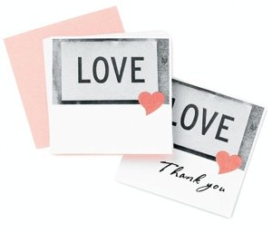 Love Heart Wedding Reception Place Cards image