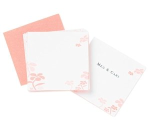 Tickled Pink Floral Place Cards image
