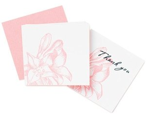 Pink Lily Place Cards image