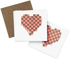 Contemporary Heart Wedding Table Cards (Set of 20) image