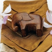 Miniature 'Good Luck' Wooden Elephants (Set of 4)
