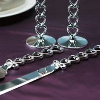 Stacked Hearts Cake Server & Knife Set