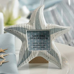 Wooden Starfish Picture Frames Favors (Set of 8) image