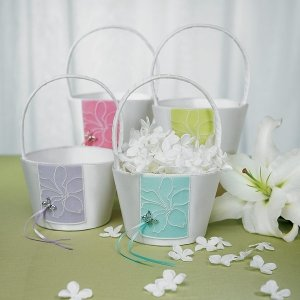 Butterfly Garden Dreams Flower Girl Basket image