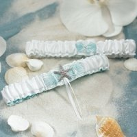 Seashell and Sand Two Piece Garter Set
