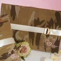 Camouflage and Lace Wedding Guest Book