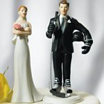 Hockey Player Groom Mix and Match Cake Topper