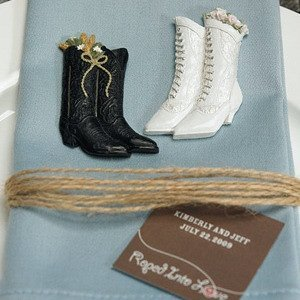 Western Cowboy Boot Magnet Wedding Favors (Set of 6) image