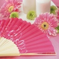 Contempo Hearts Wedding Hand Fans (Set of 6)
