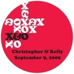 Personalized XOXO Stickers (Lots of Colors)