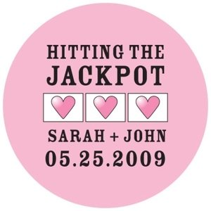 Personalized Hitting The Jackpot Mini Stickers image