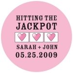 Personalized Hitting The Jackpot Mini Stickers