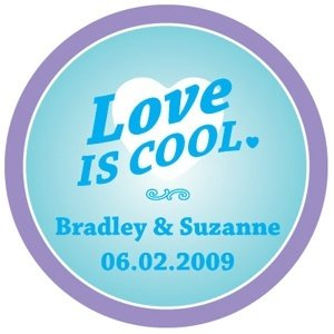 Personalized 'Love is Cool' Stickers image