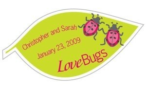 Personalized 'Love Bugs' Stickers image