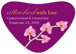 Personalized Attached With Love Stickers image