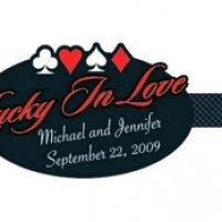 Lucky in Love Personalized Stickers