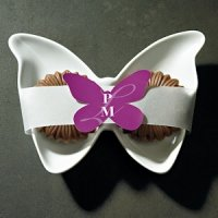 Butterfly Shaped Stickers with Custom Initials (16 Colors)