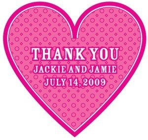 Heart-Shaped Personalized Thank You Stickers image