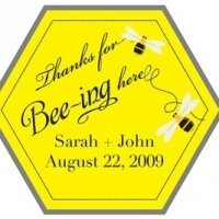 Custom 'Thanks for BEEing here' Stickers