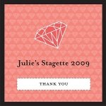 Personalized Pink Diamond Favor Tags (Set of 20)
