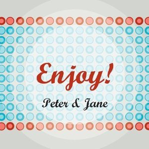 Personalized 'Enjoy!' Favor Tags (Set of 20) image
