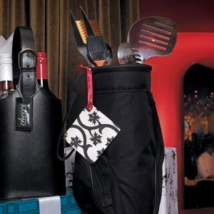 5 Piece BBQ Tool Set in Black Golf Bag image