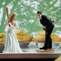 Baseball Wedding Cake Toppers (Mix and Match)