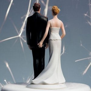 The Love Pinch Funny Wedding Couple Cake Topper image
