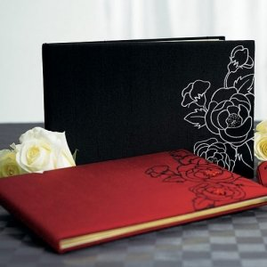 Silhouettes in Bloom Guest Book (2 Colors) image