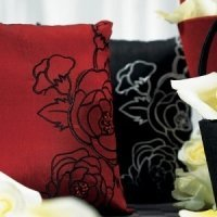 Silhouettes in Bloom Ring Pillow