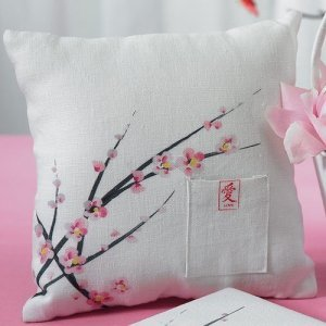 Cherry Blossom Themed Ring Pillow image