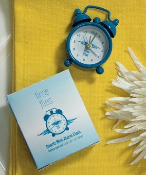 Gift Boxed Mini 'Time Flies' Alarm Clock image