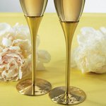 Venice Gold Toasting Flutes Set