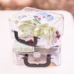 Miniature Clear Plastic Suitcase Party Favors (Set of 6)