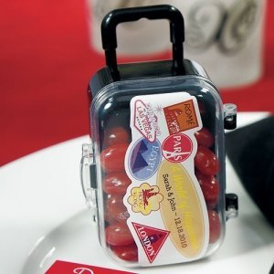 Miniature Wheeled Suitcase Favor Boxes (Set of 6) image