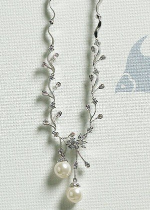 Pearl & Crystal Branch Necklace & Earrings image