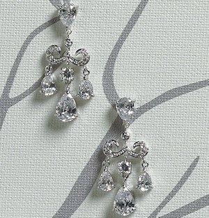 Cubic Zirconia Chandelier Earrings image