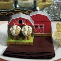 Mini Country Cow Candle Favors in Barn Gift Box