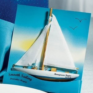 Sailboat 'Smooth Sailing' Magnet Party Favors (Set of 6) image