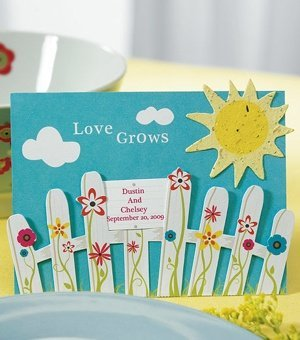 Picket Fence & Sun Seed Paper Favors (Sets of 12) image
