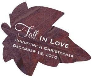 Fall In Love Leaf-Shaped Sticker image