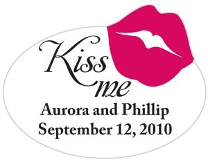 Kiss Me Personalized Favor Sticker image