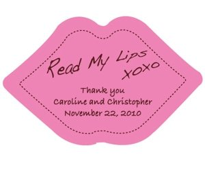 Read My Lips Personalized Sticker Labels image