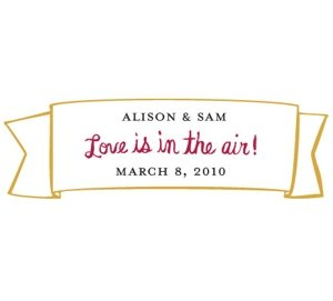 Mini Love is In the Air Banner Stickers image