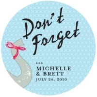 Personalized Don't Forget Elephant Sticker