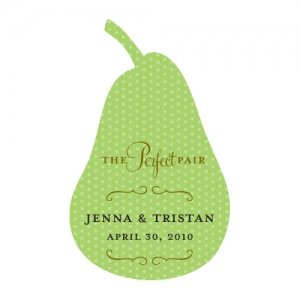 Pear-Shaped 'The Perfect Pair' Stickers image