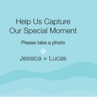 Personalized Beach Camera Table Sign (Set of 4)