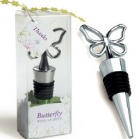 Gift Packaged Butterfly Wine Stopper